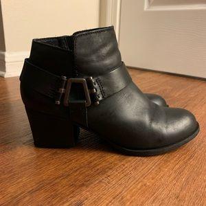 Aldo Black Leather Booties/Boots 7.5